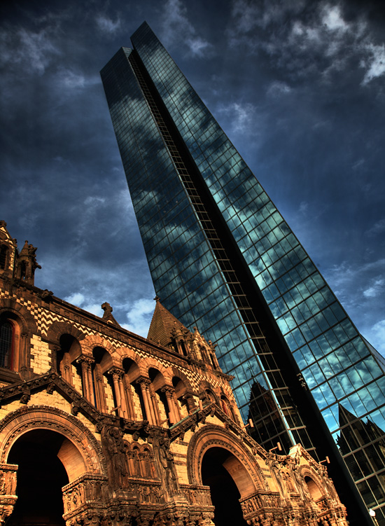 Trinity Church & John Hancock Tower, Copley Square, Boston